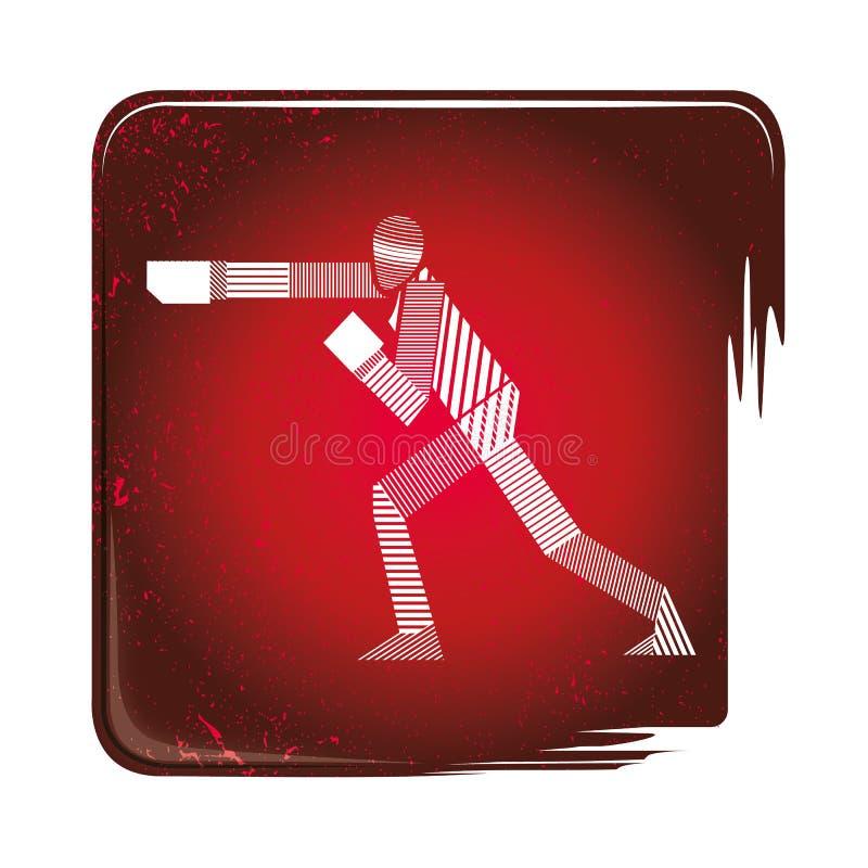 Gestreifte Ikone Taekwondos stock abbildung