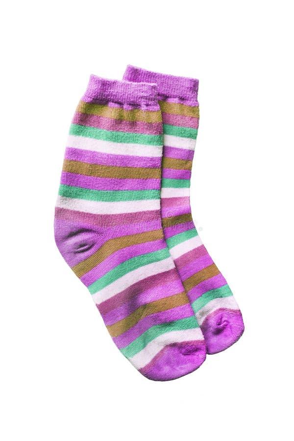 Gestreifte Socken lizenzfreies stockfoto