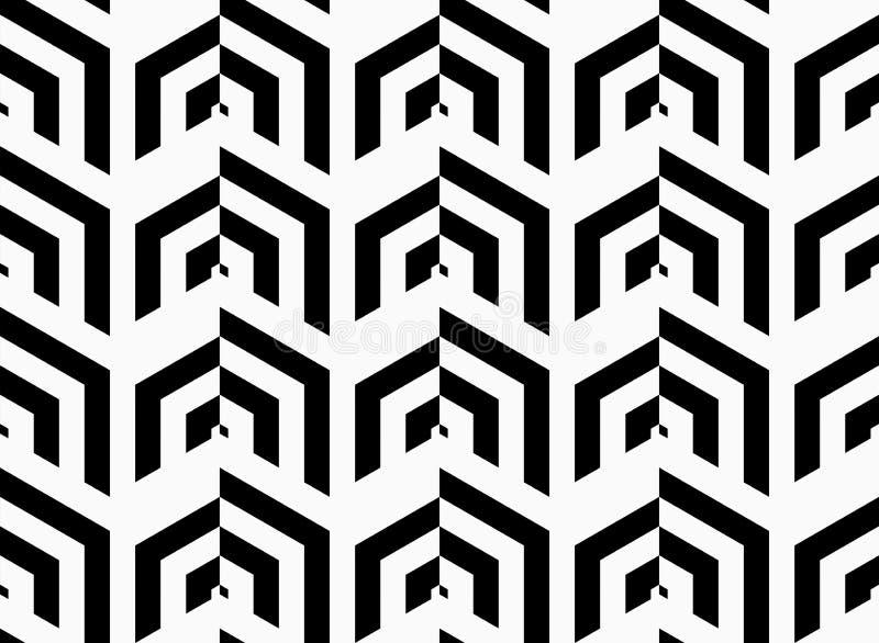 Gestreifte vertikale Schwarzweiss-Reihen lizenzfreie abbildung