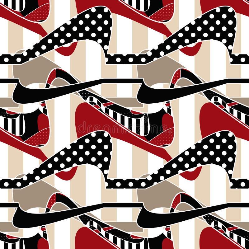 Gestreifter Designhintergrund des Patchworks nahtloses Muster stock abbildung