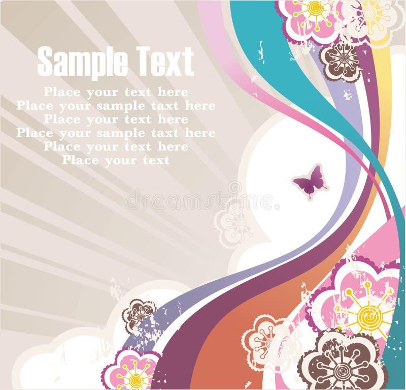 Gestreifter Hintergrund mit freiem Platz für Ihren Text lizenzfreie abbildung