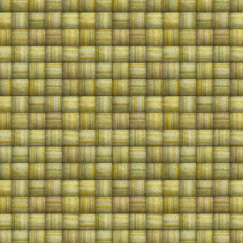 Gestreifter Mosaikhintergrund im mehrfachen grünen Gelb stock abbildung