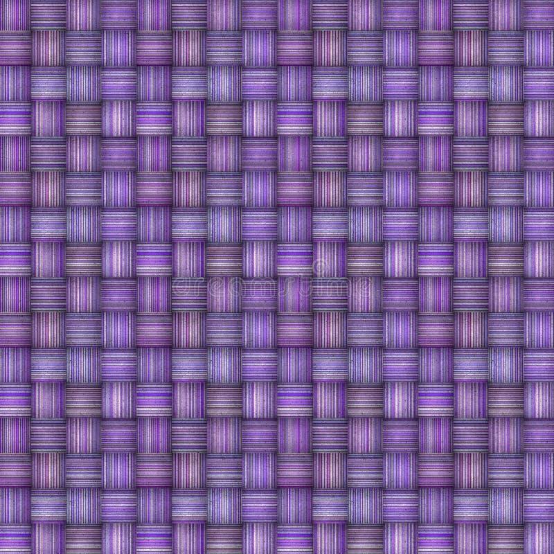 Gestreifter Mosaikhintergrund im mehrfachen Purpur lizenzfreie abbildung