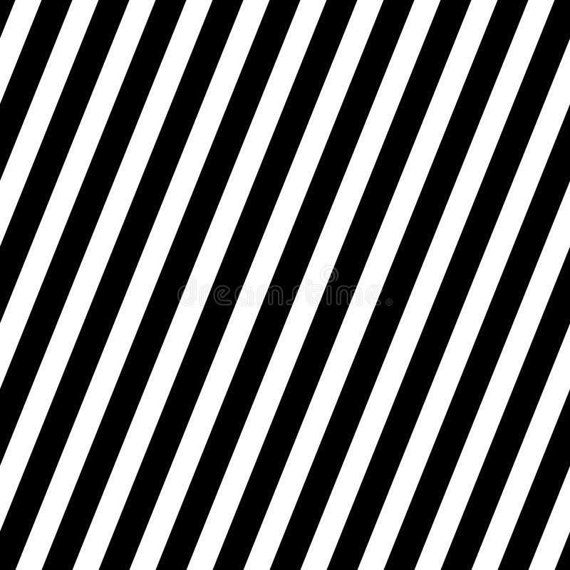 Gestreifter nahtloser Musterhintergrund Vektorabbildung in Schwarzweiss stock abbildung