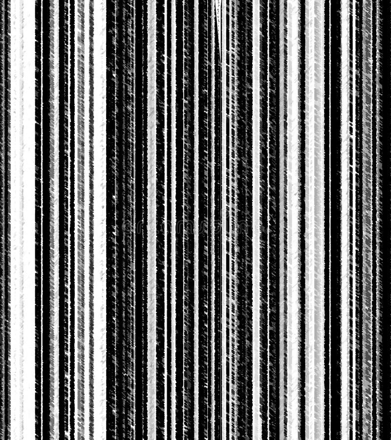 Gestreifter Schwarzweiss-Schmutzvertikalenhintergrund vektor abbildung