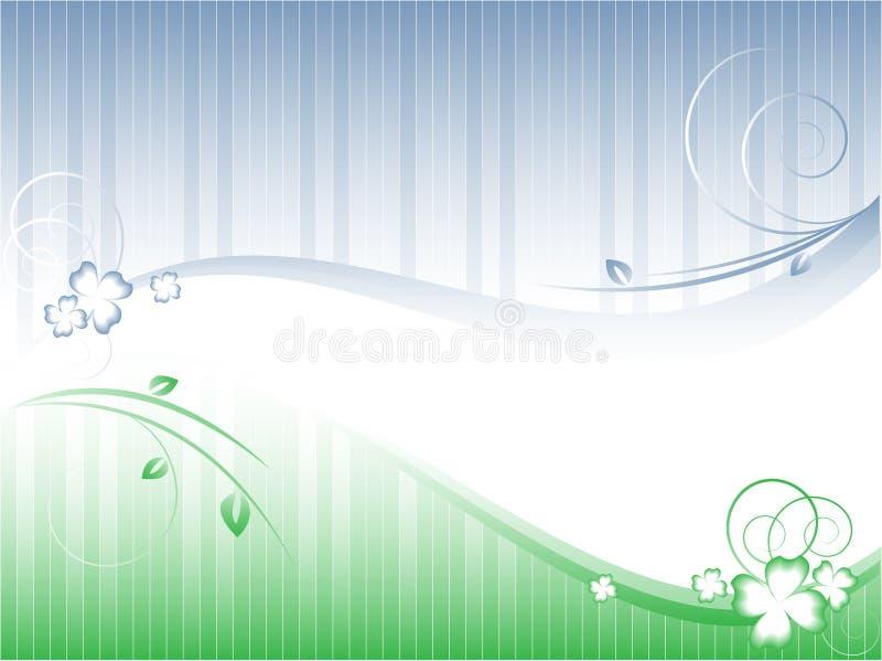 Gestreifter vektormit blumenhintergrund stock abbildung