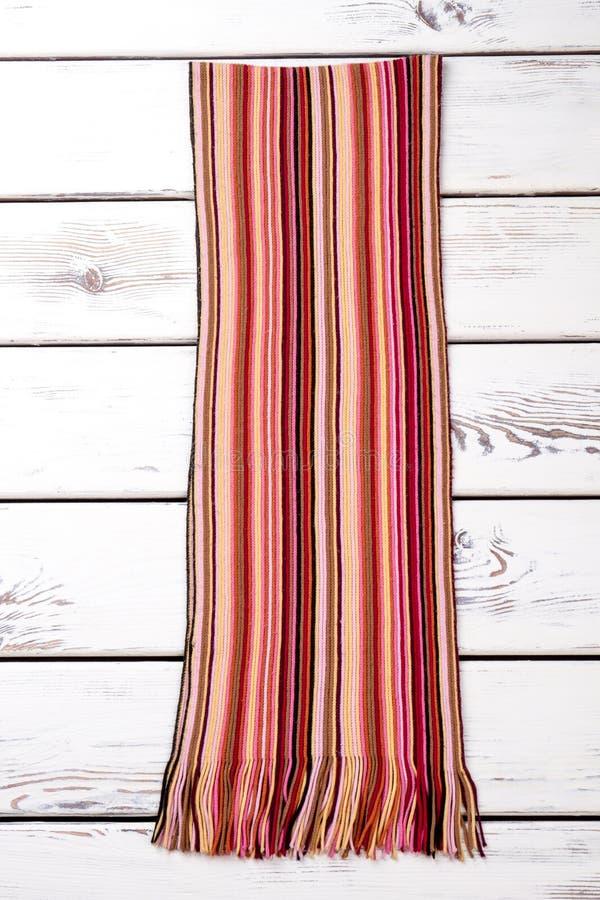 Gestreifter woolen Schal lizenzfreie stockfotografie