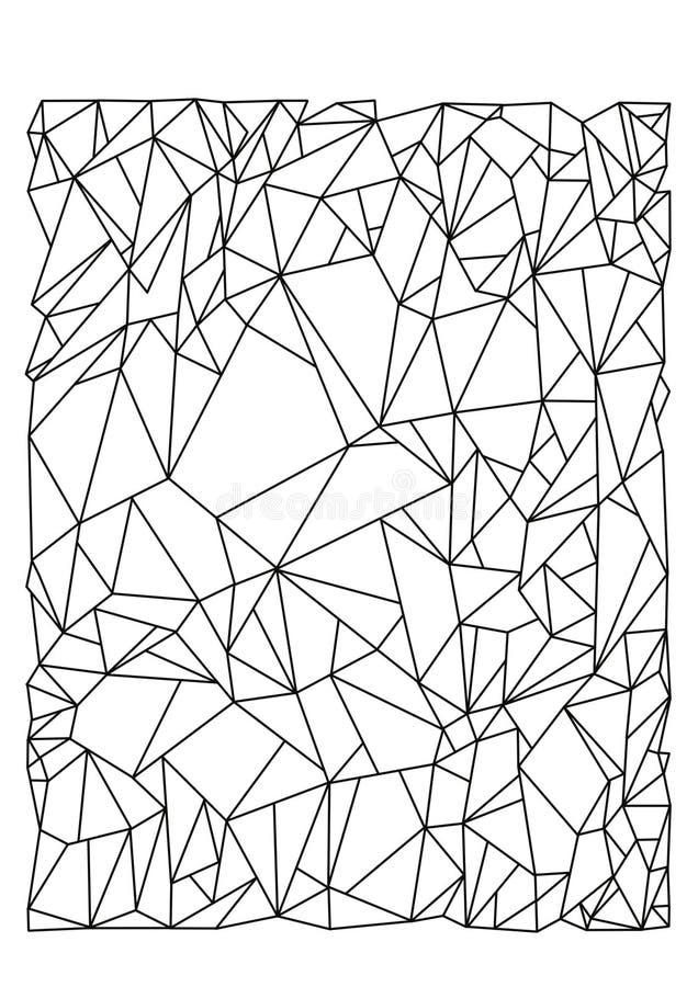 Gestreiftes abstraktes Vektorbild lizenzfreie abbildung