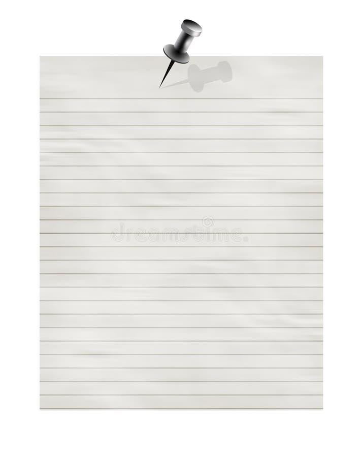 Gestreiftes Büropapier stock abbildung
