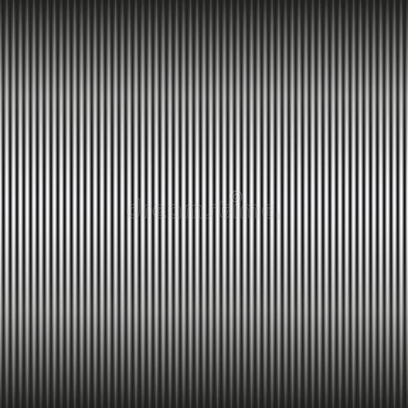 Gestreiftes Design Vector nahtlose vertikale Schwarzweiss-Linien Muster, einfacher Hintergrund vektor abbildung