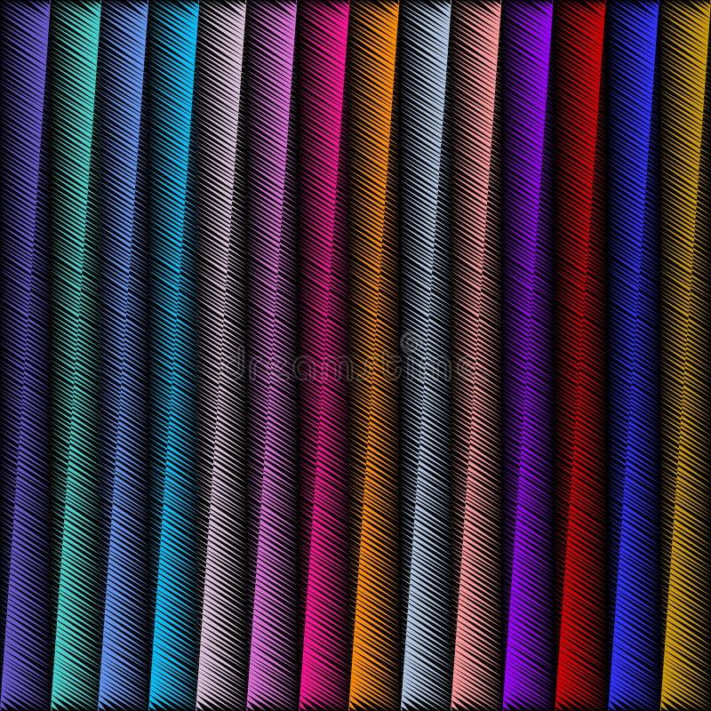 Gestreiftes geometrisches nahtloses Muster der Stickerei 3d Vektor abstrac vektor abbildung