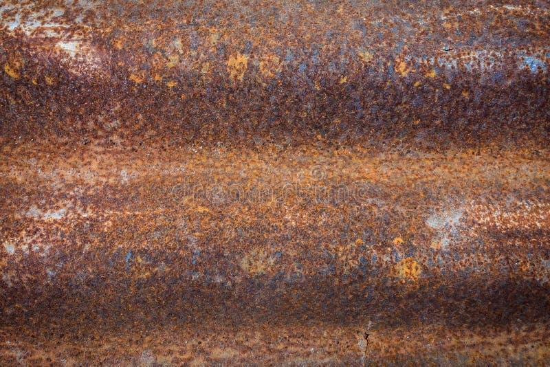 Gestreiftes Muster des Zinkrosts als Hintergrund stockbild
