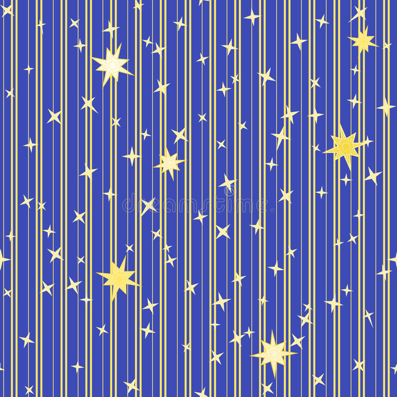 Gestreiftes Muster mit Sternen vektor abbildung
