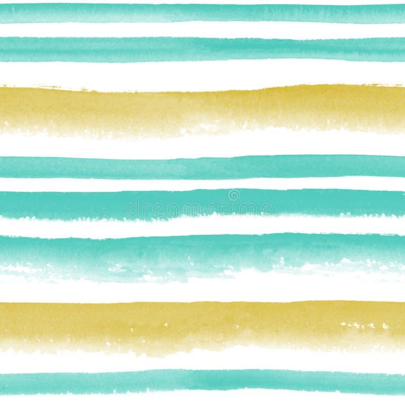 Gestreiftes nahtloses Muster des Aquarells lizenzfreie stockbilder