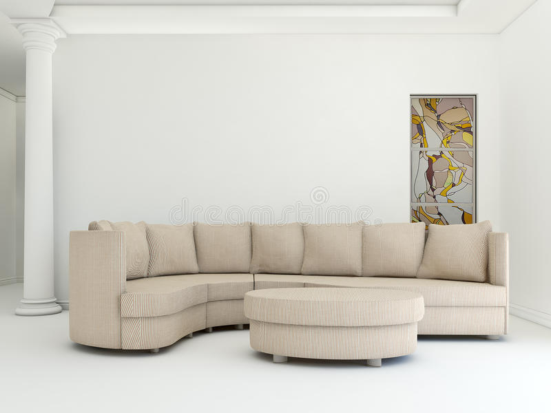 Gestreiftes Sofa stockbild