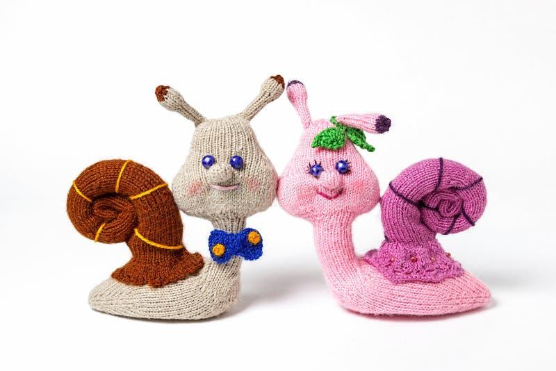 Gestrickte handgemachte Spielwaren Amigurumi handcraft Geschenk mit Liebe stockbild