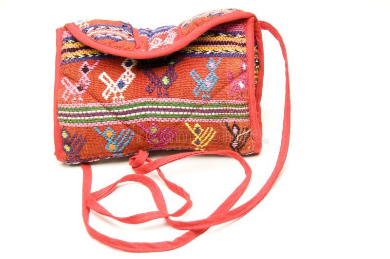 Gestrickte kleine tragen den Beutel, der in Honduras hergestellt wird stockfoto
