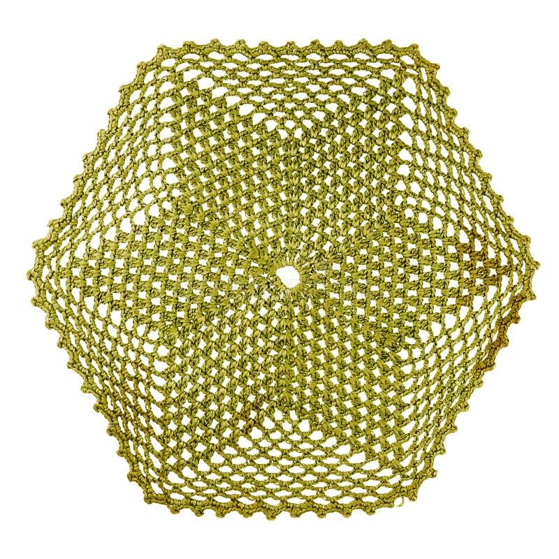 Gestrickte Serviette der Weinlese Grün lizenzfreies stockbild