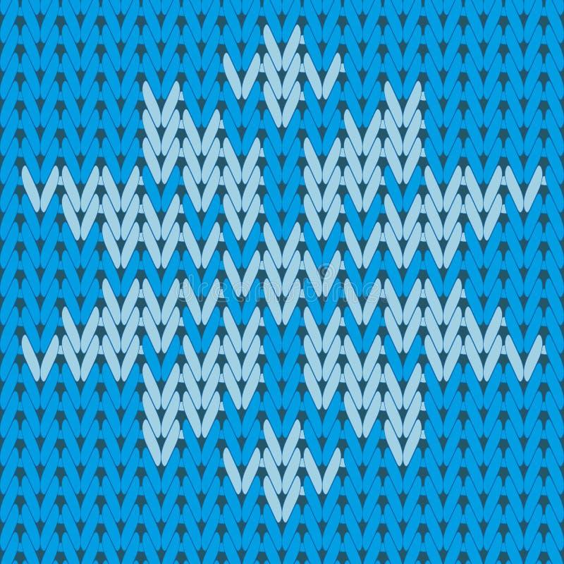 Gestrickte Verzierung, Art für eine Winterstrickjacke Nahtloses Muster stock abbildung
