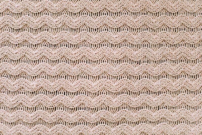 Gestrickter Hintergrund strickendes Muster der Wolle stricken Beschaffenheit des gestrickten woolen Gewebes für Tapete und einen  lizenzfreies stockbild