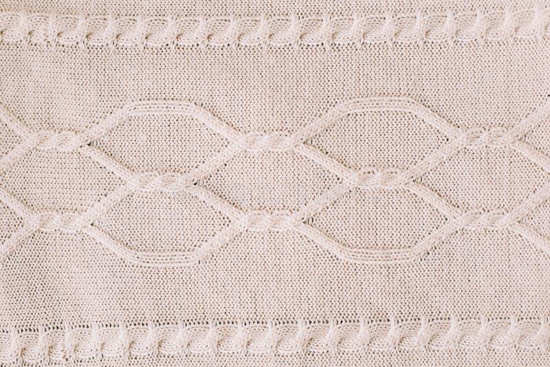 Gestrickter Hintergrund strickendes Muster der Wolle stricken Beschaffenheit des gestrickten woolen Gewebes für Tapete und einen  lizenzfreie stockbilder