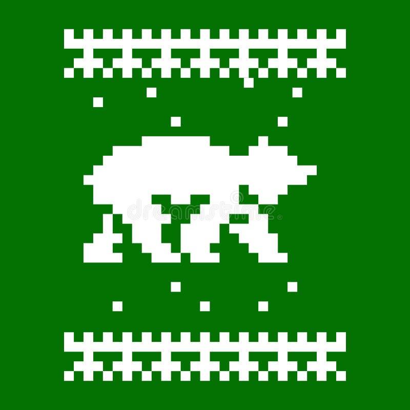 Gestrickter Schal mit Bären lizenzfreie abbildung