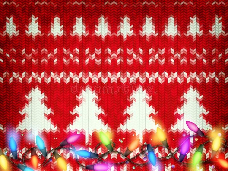 Gestrickter Weihnachtshintergrund ENV 10 stock abbildung