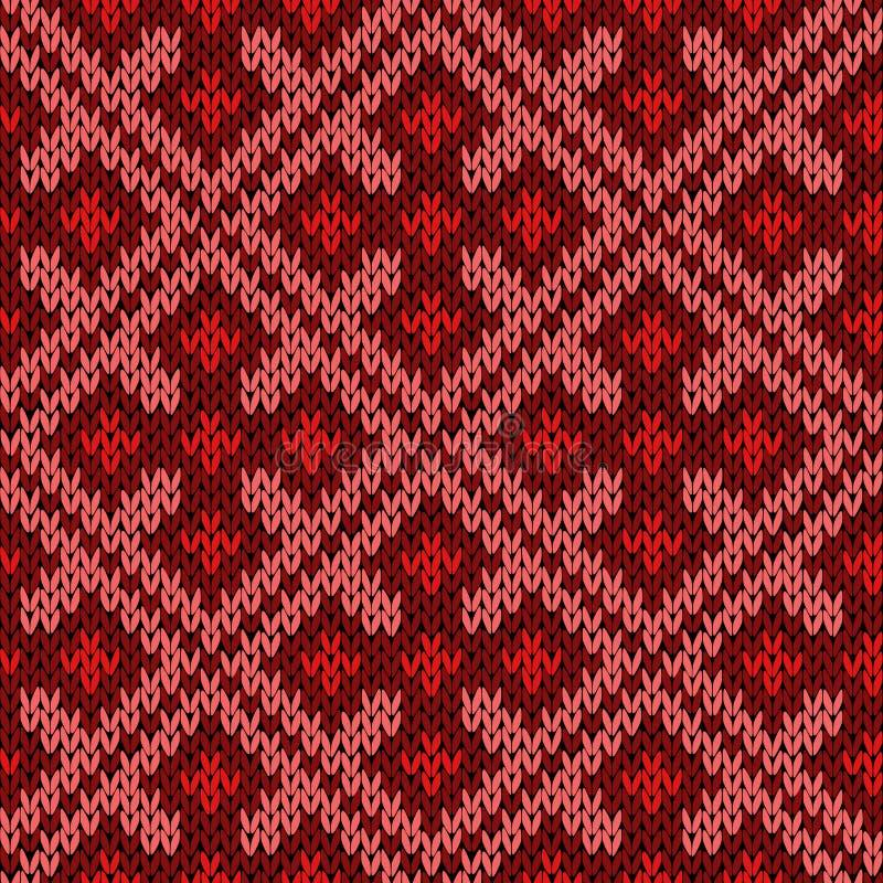 Gestricktes aufwändiges nahtloses Muster vektor abbildung
