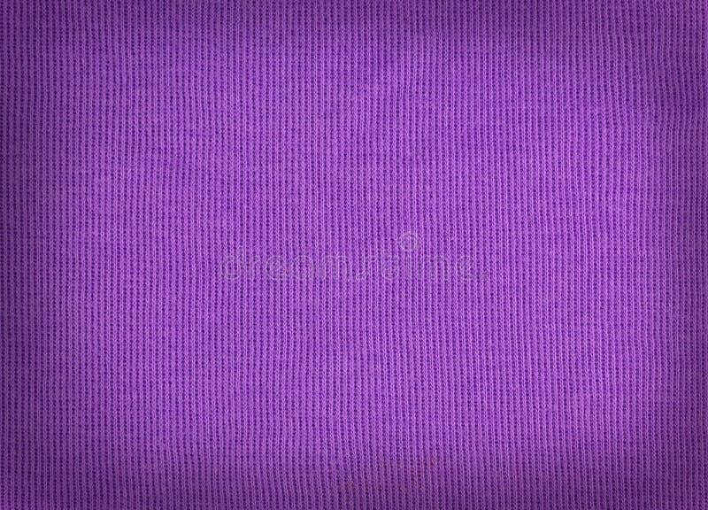 Gestricktes Purpur des woolen Gewebes Wollbeschaffenheit stockfotos