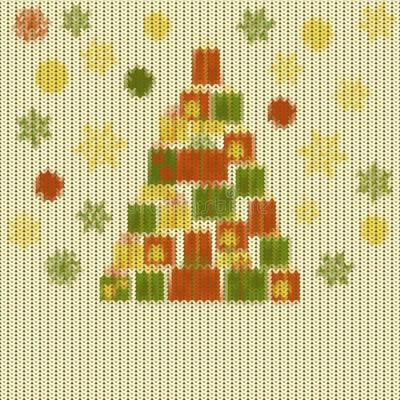 Gestricktes Weihnachtsmuster vektor abbildung