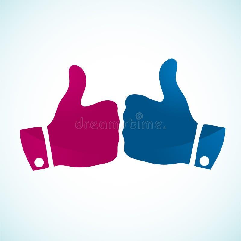 gestsymboler tumm upp vektor illustrationer