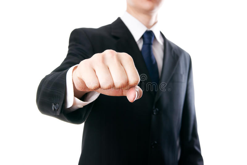 Gesture of businessman stock image
