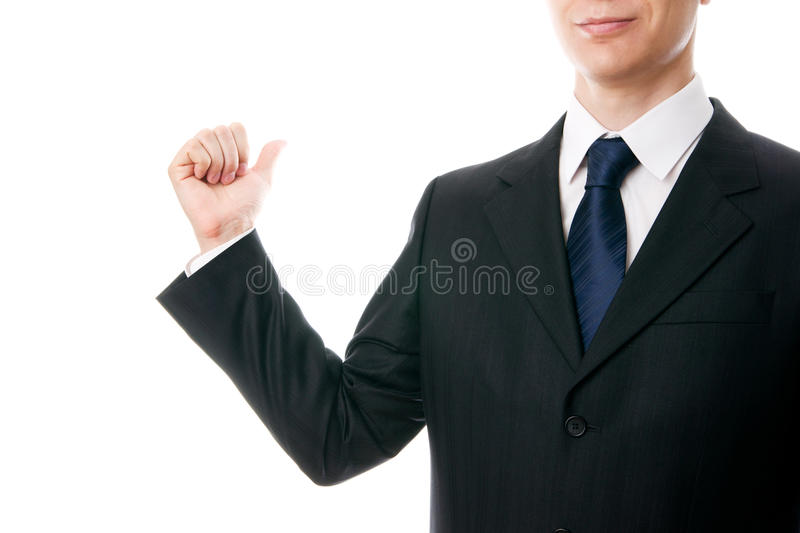 Gesture of businessman stock images