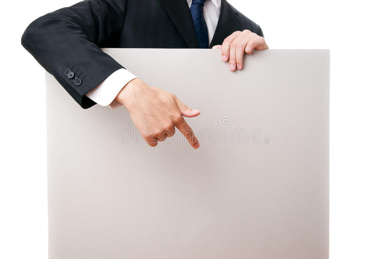 Gesture of businessman royalty free stock photography