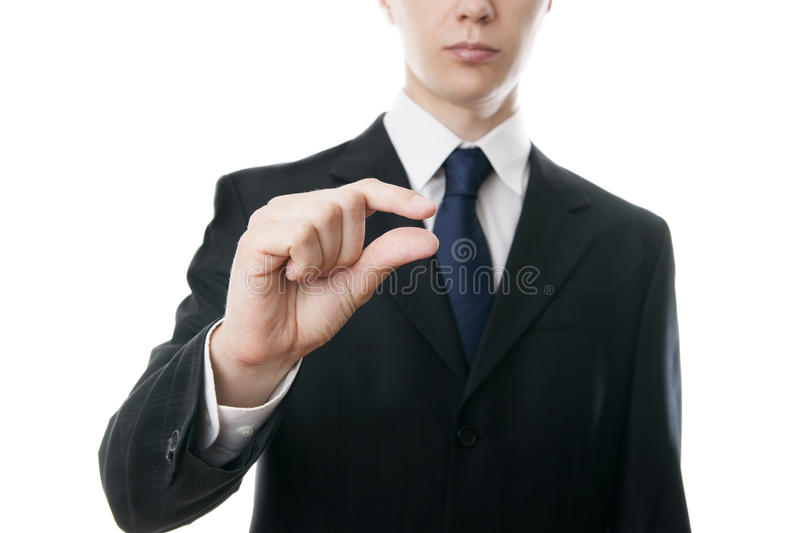 Gesture of businessman royalty free stock image