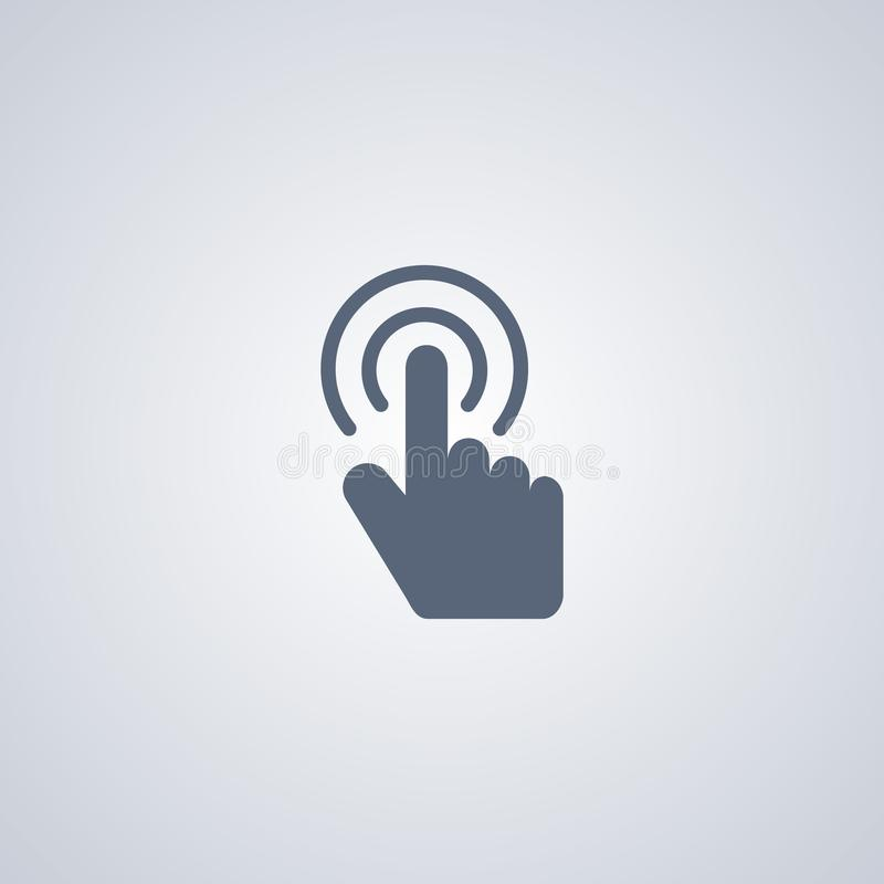Gesture double click , vector best flat icon. On white background , EPS 10 stock illustration