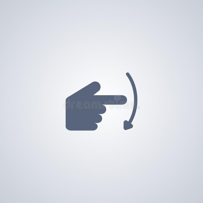 Gesture fanno scorrere giù, migliore icona piana di vettore illustrazione di stock