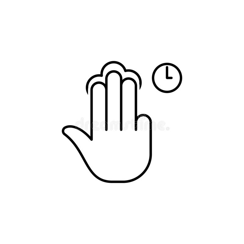 Gesture, good, perfect outline icon. Element of simple icon for websites, web design, mobile app, info graphics. Signs and symbols vector illustration