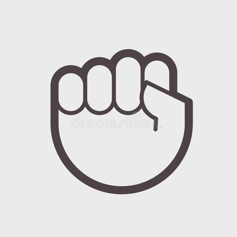 Gesture Hand Clenched Into A Fist A Symbol Of Struggle Or