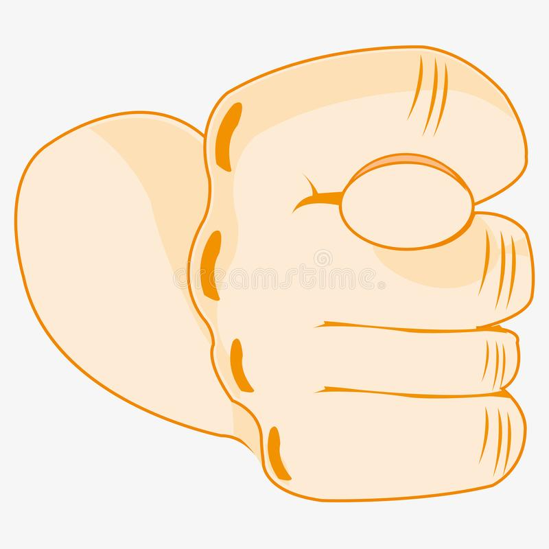 Gesture by hand fig. They Are Compressed fist of the person showing obscene gesture fig stock illustration