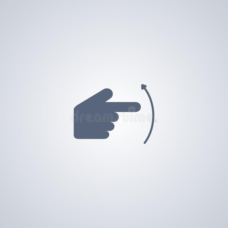 Gesture la mano che lancia su, migliore icona piana di vettore illustrazione di stock