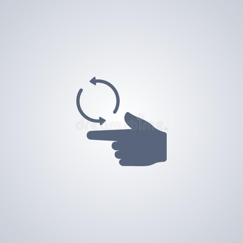Gesture la rotazione dello schermo, migliore icona piana di vettore royalty illustrazione gratis