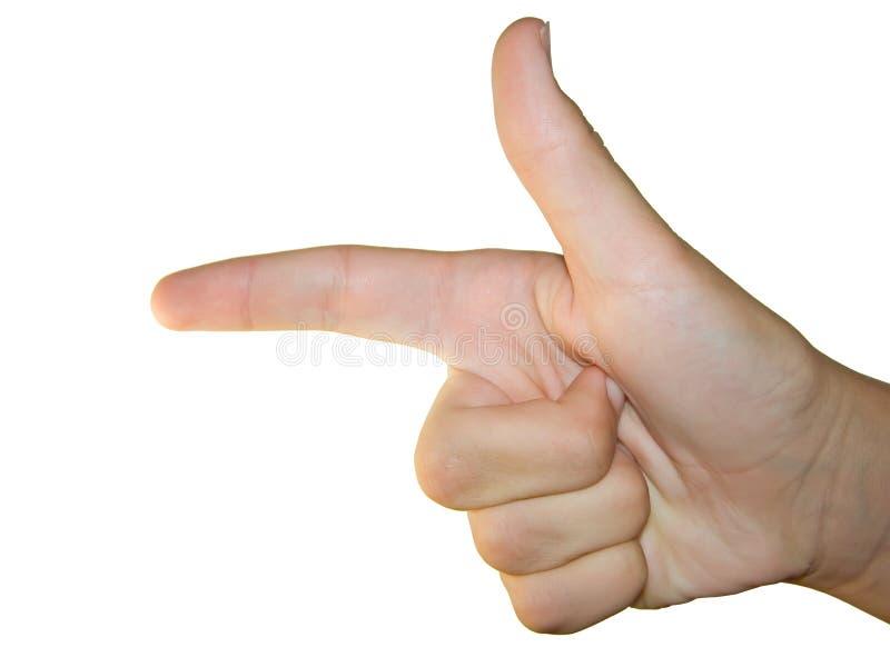 Gesture of winner royalty free stock photo