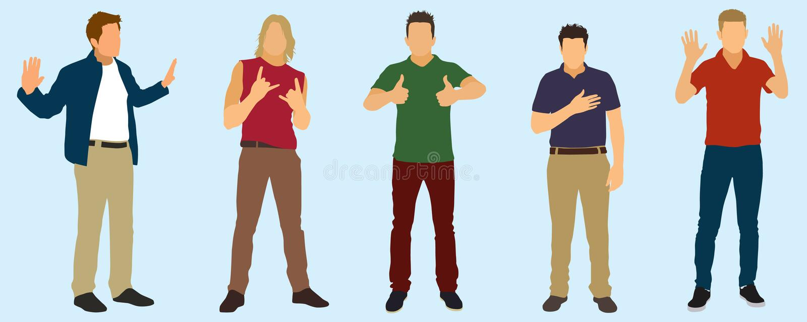 Gestures Stock Photography