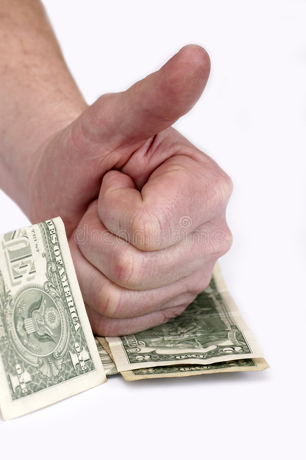 Gestures and the American money #1 stock photos