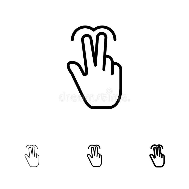 touchscreen gestures icon set stock vector
