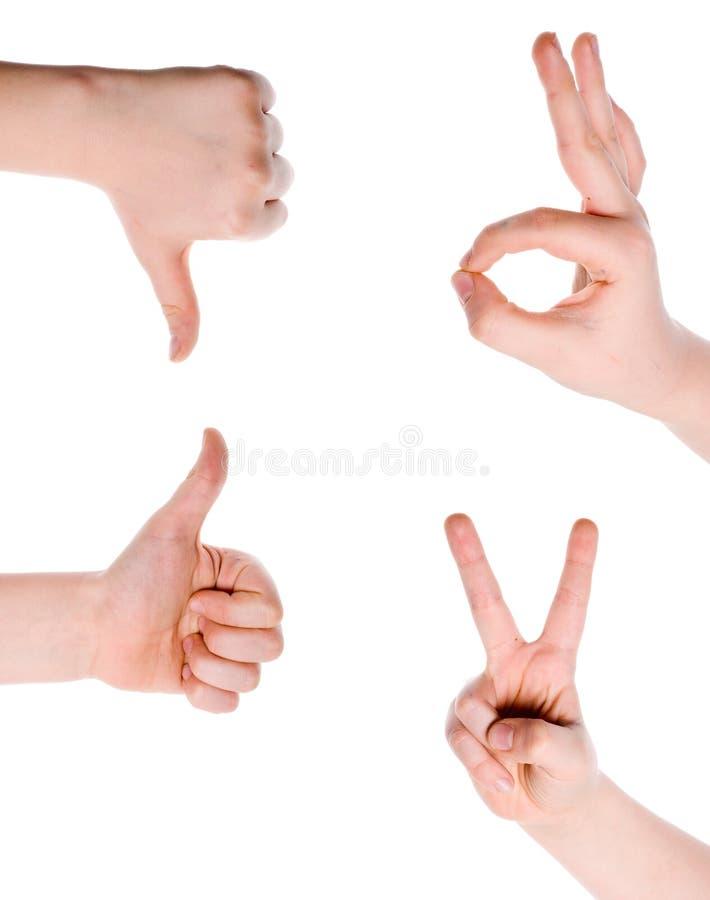 Gestures Of Hands Stock Image