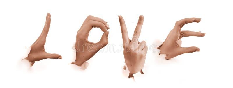 Gestures of hands. Love