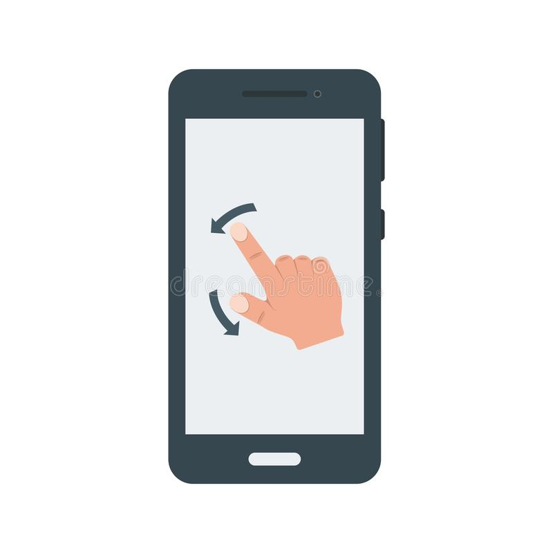 Gestures. Scroll, tap, mobile icon vector image. Can also be used for smartphone. Suitable for mobile apps, web apps and print media vector illustration