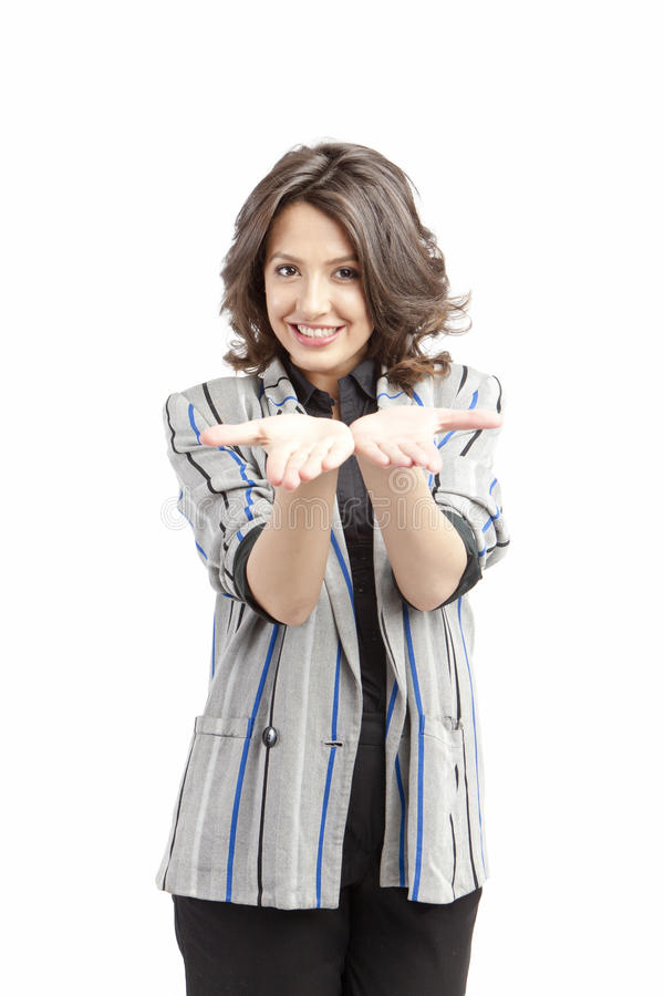 gesturing γυναίκα φοινικών στοκ φωτογραφίες